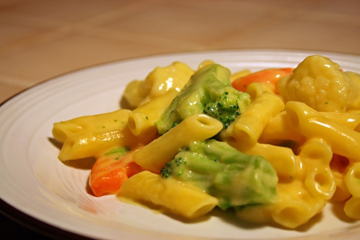 ... Vegetable Mac & Cheese... reduced fat milk and cheese, halve the