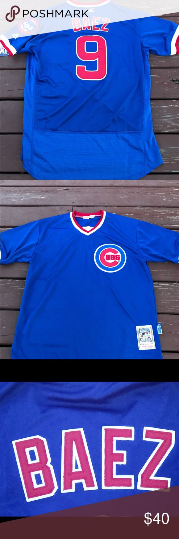 Men's Javier Baez Cubs 1984 Throwback Jersey (XXL) Men's Chicago Cubs Javier Baez 1984 Mitchell & Ness Throwback Jersey. Brand new with tags, size XXL Flex base On Field jersey. I have a few more of these available in different sizes, please check my listings for more. I recently closed my retail store and am liquidating all my inventory. Over 300 jerseys available for Men, Women and kids. Need a Cubs W flag? How about Cubs World Series patches? Got em! If you don't see what your looking…