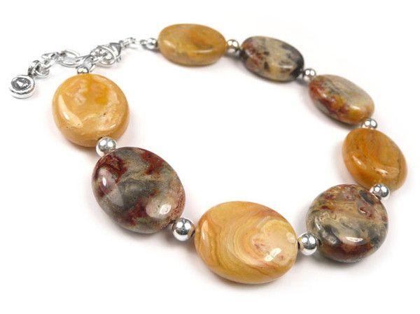 Gemstone Bracelet - Crazy Lace Agate Ovals