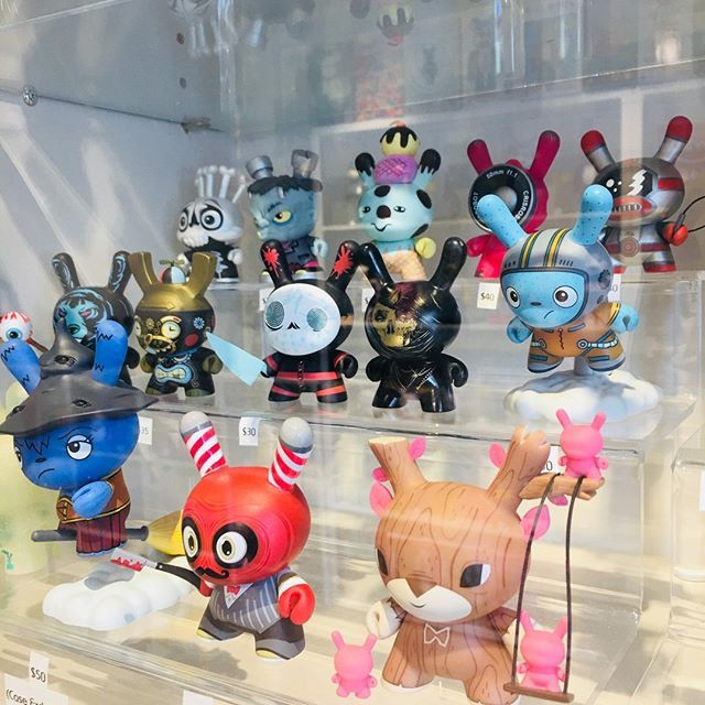 Dunnys Come And Go In Our Treasure Chest Section You Might Find Some Missing Pieces To Your Collection If You Shop The Treasu Art Toy Vinyl Toys Designer Toys