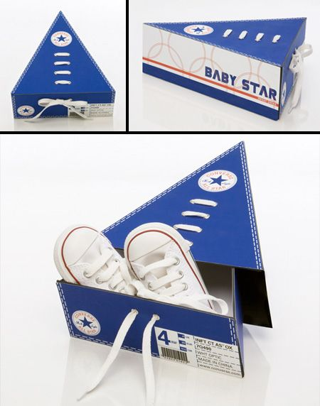 Baby Star Shoe Packaging  Cool packaging designed for Converse Baby Star