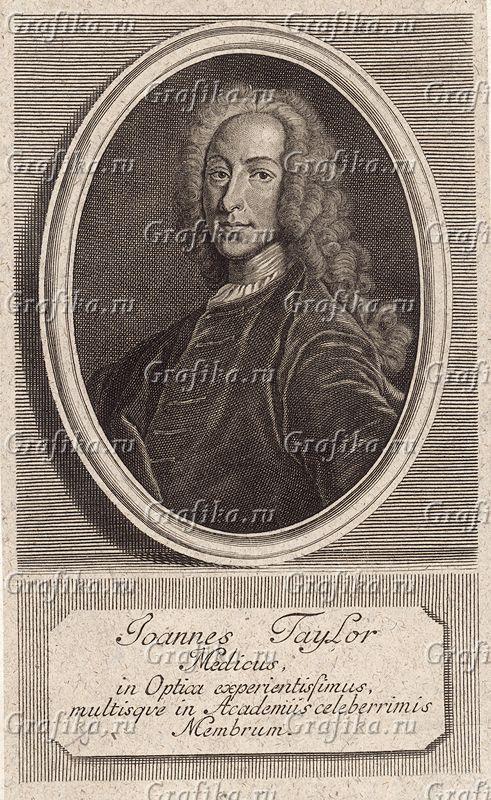06-001855 Джон Тейлор (1703 -- 1772) -- первый британский хирург-офтальмолог и личный окулист множества европейских монархов, включая Георга II. Считается, что именно его вмешательство привело к потере зрения у Генделя и значительному ухудшению состояния у Баха.