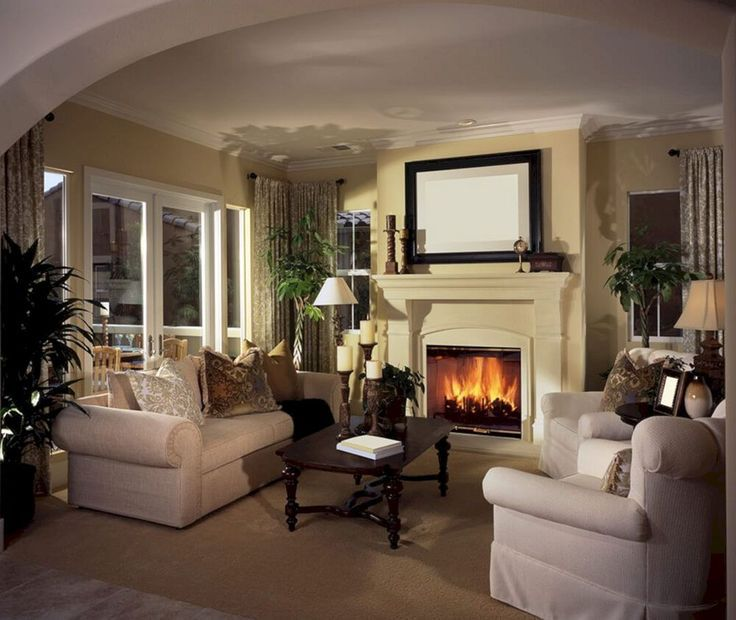 charming empty living room fireplace | Epic 20 Charming Living Room with Contemporary Fireplace ...