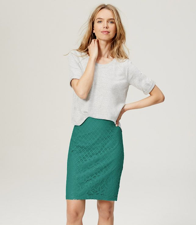 Primary Image of Paradise Lace Pencil Skirt