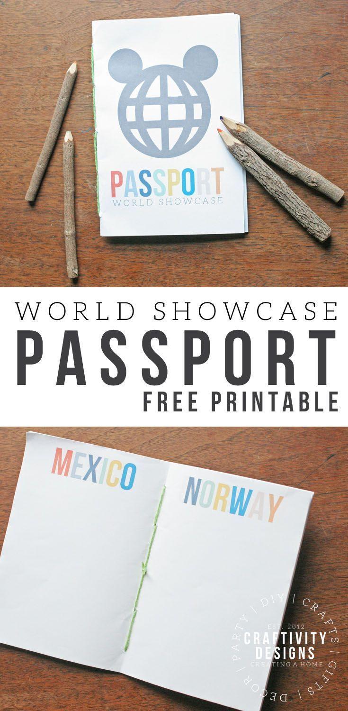 Free Disney Printable Passport For Epcot World Showcase Disney Printables Free Disney Diy Disney Vacations