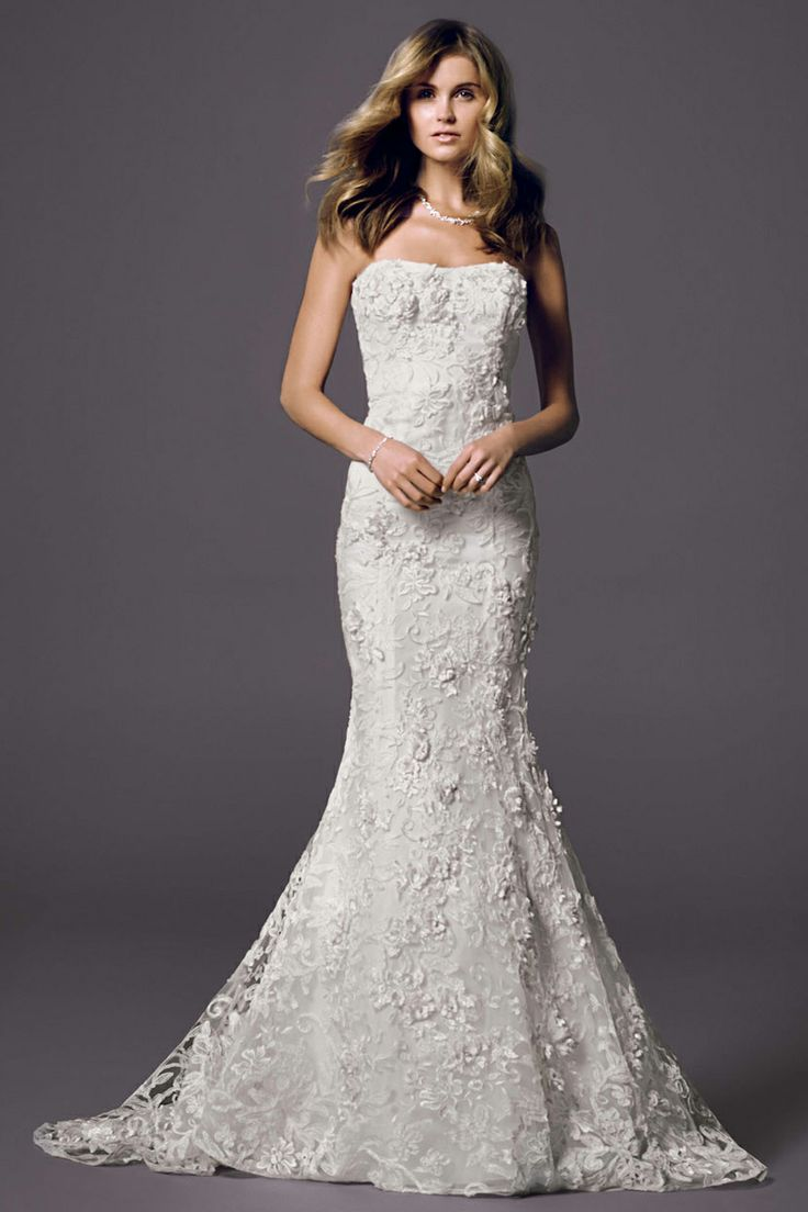 Style vw351146 pinterest beautiful pump and wedding for Lace wedding dress davids bridal
