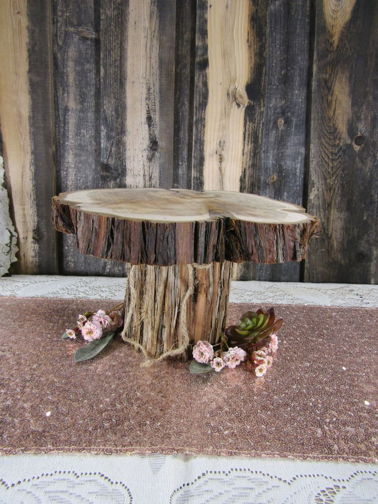 Small Tiered Cake Stand ~ Juniper Wood Cake Stand ~ Rustic Wedding, Barn Wedding, Outdoor Wedding, Rustic Cake Stand, Log Cake Stand (CS5012 by CountryChapel on Etsy https://www.etsy.com/listing/266426557/small-tiered-cake-stand-juniper-wood