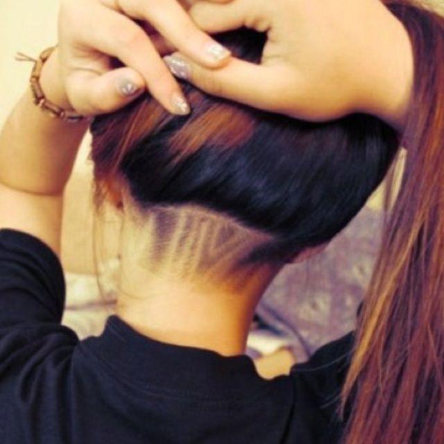 women's undercuts shaved