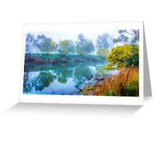 Foggy Start to the Day at Lake Eildon Greeting Card