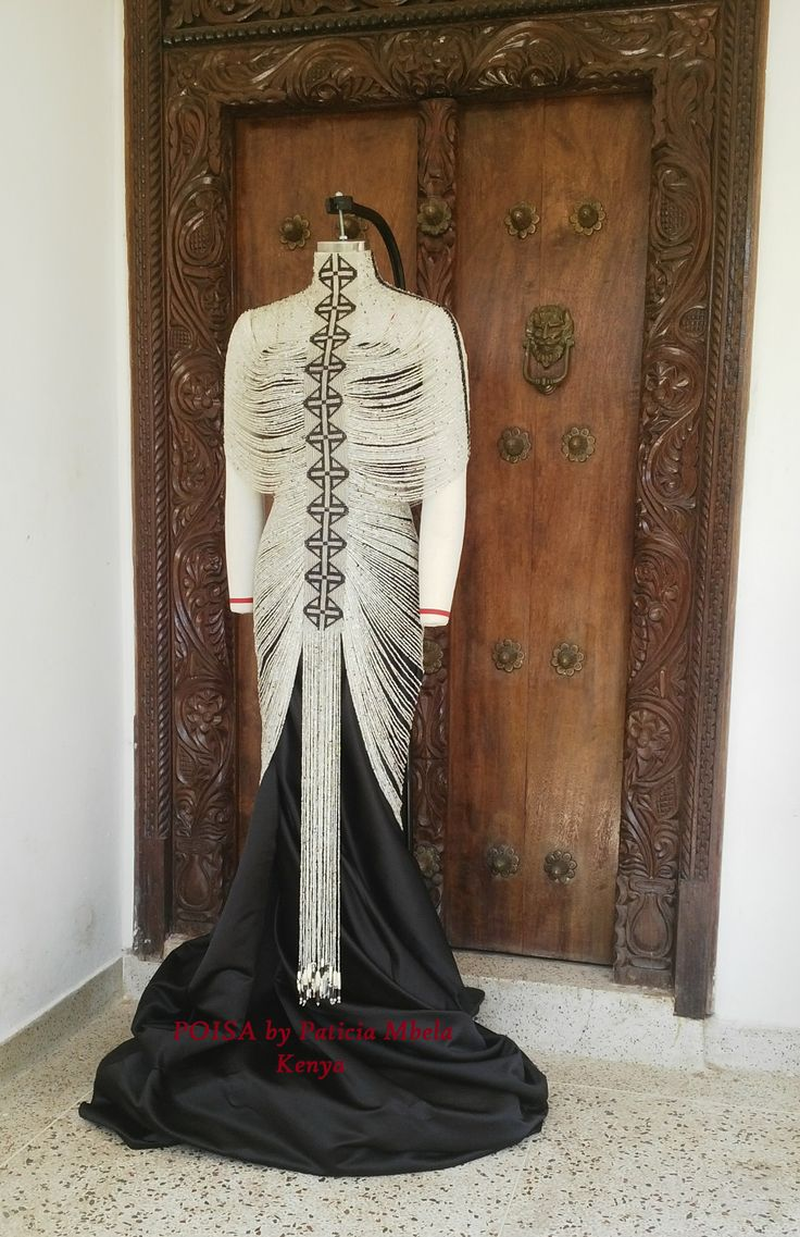 The MONIKA Bead Dress Contemporary African Jewellery, #AfricanFashion, designed by Patricia Mbela of Poisa (Kenya).   This piece of jewellery is named after a Master Pinner and Kind Researcher Monika Ettlin http://www.pinterest.com/MonikaEttlin/