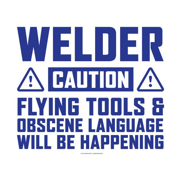 Awesome 'Welder+With+Flying+Tools' design on TeePublic!