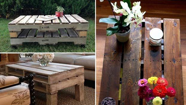 Tavolini da giardino economici in pallet di legno