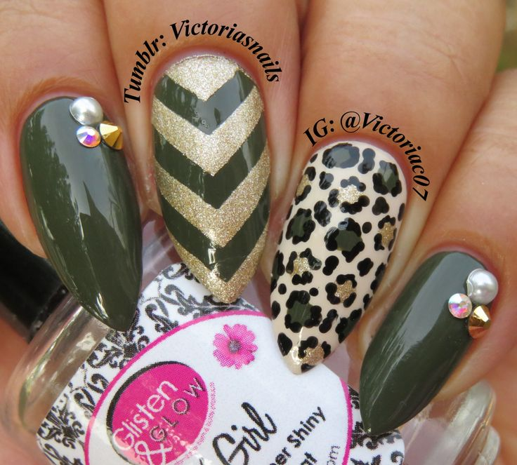 Army Green & Gold OPI - Suzi The First Lady Of Nails, My Vampire Is - The 25+ Best Army Nails Ideas On Pinterest Army Nail Art