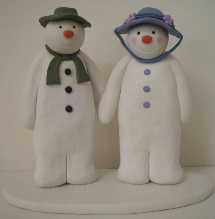 Plastic Snowman Cake Toppers