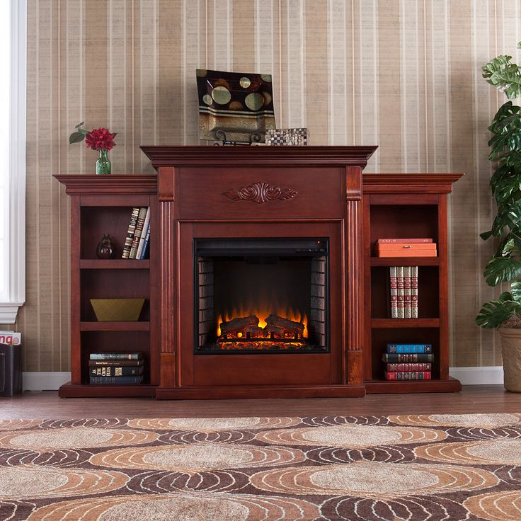 Tennyson Electric Fireplace Media Center Package in Mahogany - FE8547