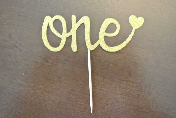 A personal favorite from my Etsy shop https://www.etsy.com/ca/listing/506554058/gold-first-birthday-cupcake-toppers