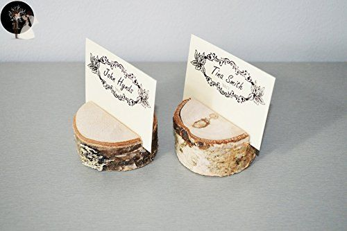 Set of 100 birch place card holders, name card holders, rustic wood card holder, shabby chic, birch card holder, 100 card holders, scandinavian card holders, rustic chic, natural card holders - Wedding table decor (*Amazon Partner-Link)