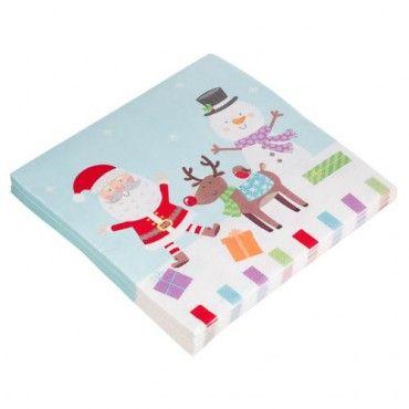 Christmas 3 Ply Frosty Friends Napkin 20 Pack