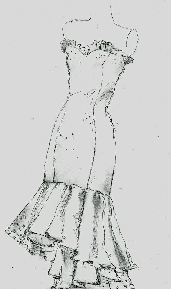 Fashion Draping drawing