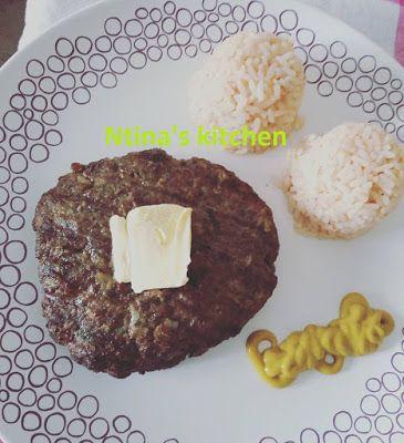 ntina's kitchen: Μπιφτέκια στη σχάρα