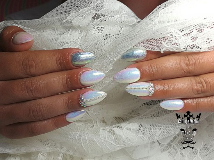 Bridal nails  #nails #nailart #acrylic #bridalnails #mermaidnails #beauty #fashion #fashionista #special #style #fotooftheday #nailprodigy #nailaholic #nailsalon #nail2inspire #trusttheexperts #beautymakesyouhappy  www.kalliopeveniou. gr