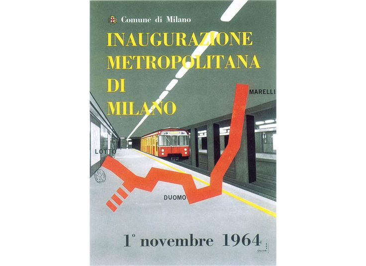 Grand opening of the line 1, promotional poster