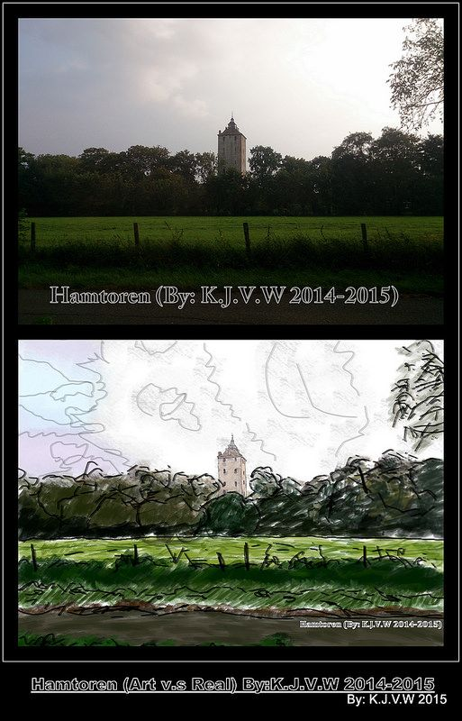 Hamtoren (Art v.s Real)  And there is it: It's the turn of Hamtoren.