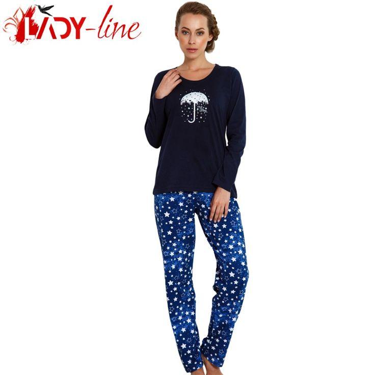 Poze Pijamale Dama Bumbac 100%, 'Rain Stars', Vienetta Secret