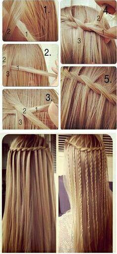 Voici une coiffure pour cheveux long