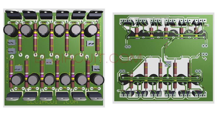 Class B Audio Amplifier Circuit Diagram Amplifier Circuit Design