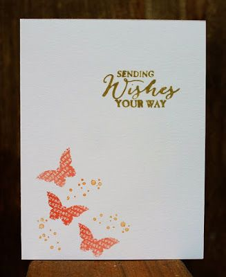 Stamping and other stuff: WWC76 - Penny's Clean & Simple Butterflies