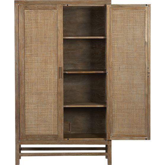 Crate Amp Barrel 1299 Blake Grey Wash Two Door Cabinet 37