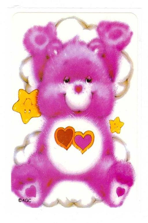 Lovealot Care Bear 80's  Sticker Rare by CollectorsWarehouse, $2.99