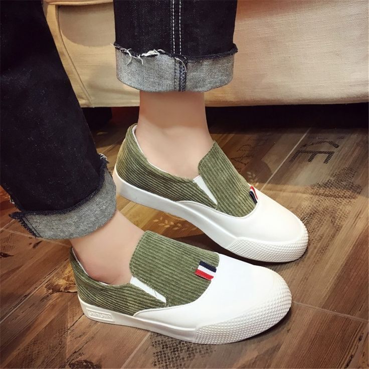 2017 Spring And Summer New One Pedal Fight Color Shoes Flat Bottom Slack Lazy Shoes Fashion Students Leisure Comfort Club Shoes