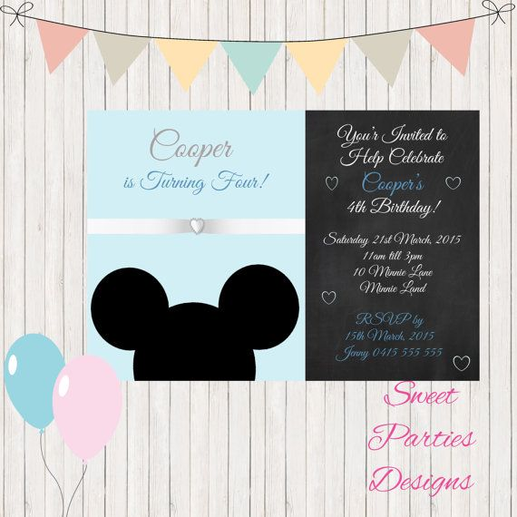 Hey, I found this really awesome Etsy listing at https://www.etsy.com/listing/240330463/mickey-mouse-invitation-boys-1st