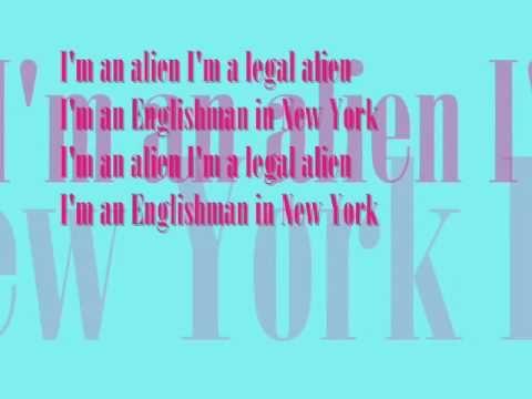 Englishman in New York, Sting - LYRICS