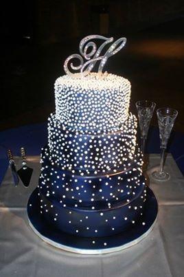 Gorgeous Navy Bling Cake