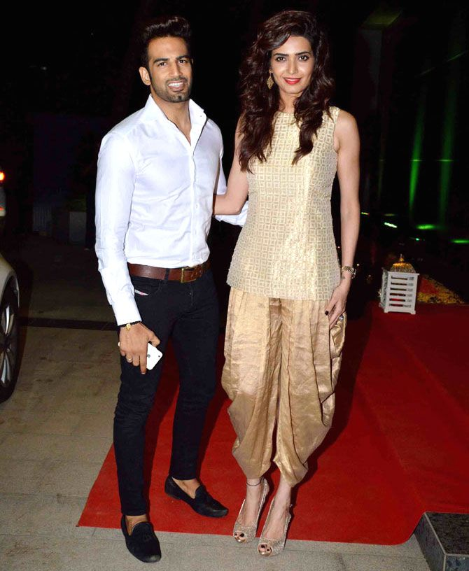 Upen Patel and Karishma Tanna : Photos: Riteish, Genelia, other celebs at Ashish Chowdhry's Diwali bash