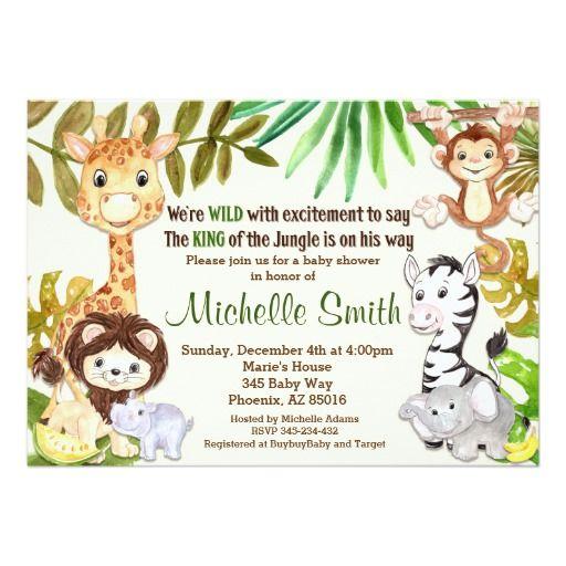 Safari Baby Shower Invitation: 25+ Best Ideas About Safari Invitations On Pinterest