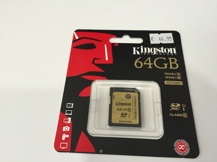 Microsd Kingston 64 GB Vídeo HD