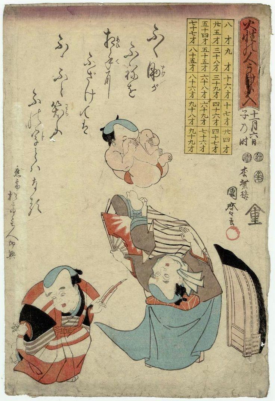 歌川国麿: The Lucky Syllable http://data.ukiyo-e.org/mfa/images/sc138505.jpg