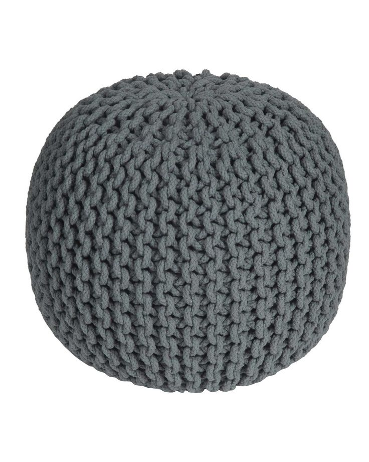 Sea Grey Knitted Pouffe from our well designed large collection of pouffes and cubes is made up of 100% cotton. This chunky fashionable range of pouffes is hand knitted with polystyrene beads filling. These are reasonably priced and are available in two classic shapes and ten vibrant colours. Without doubt, these multipurpose pouffes prove to be an indispensable home accessory.