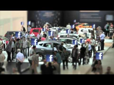 Real life Facebook Like with Hyundai at the Autorai 2011