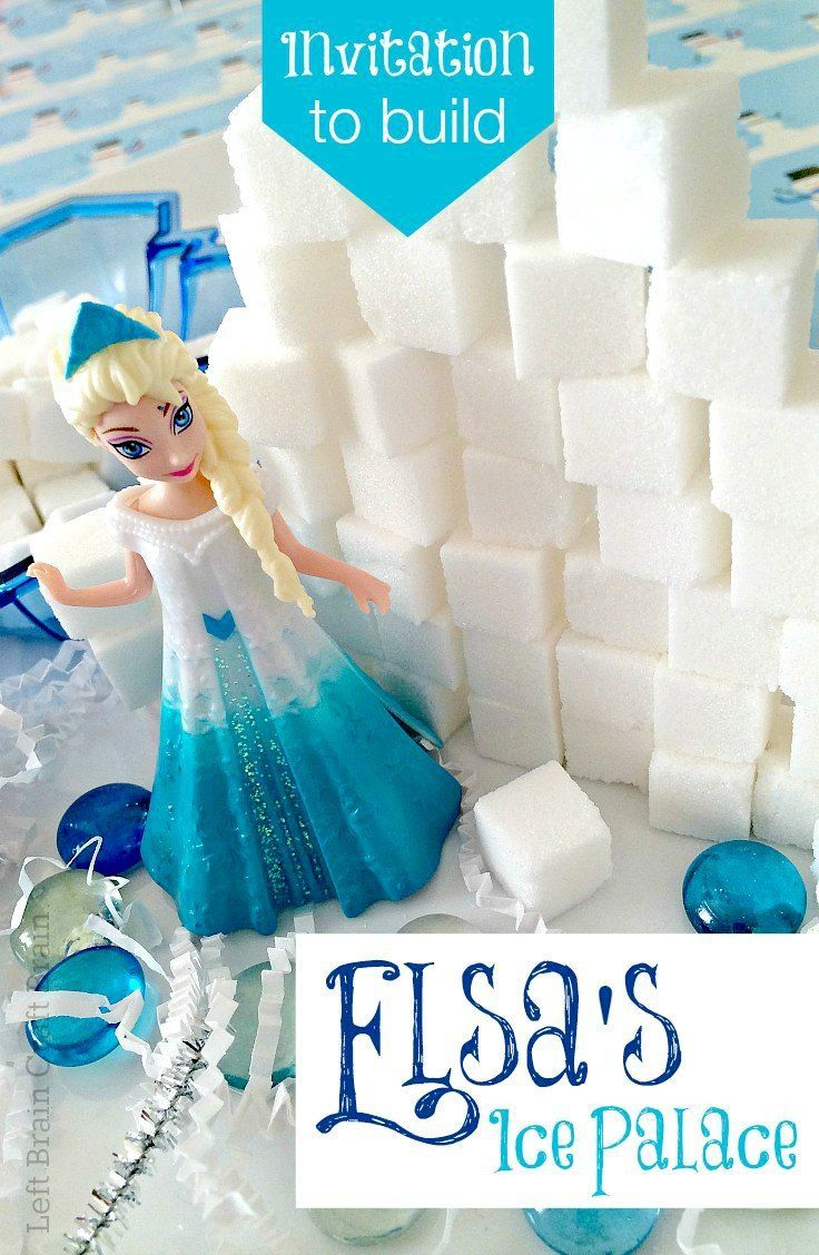 Building Elsa's Ice Palace out of sugar cubes is a fun and imaginative way to learn STEM skills. It's a perfect activity for your preschool and elementary school aged architects!