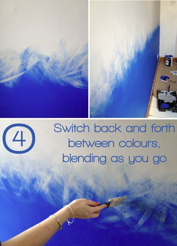 Best Ombre Walls Images On Pinterest Blue Walls Paper And - Ombre wall painting technique