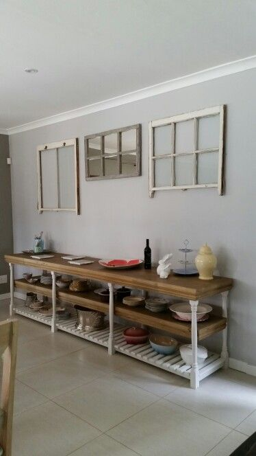 Dining room wall on a budget