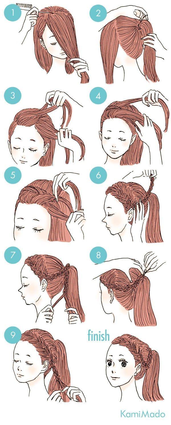 Ein paar Schritte, um dein Haar zu tun und wie eine Göttin aussehen