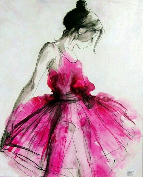Beautiful Aquarell Ballerina