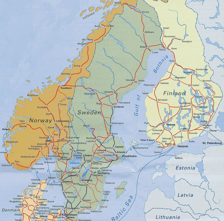Best Norway Sweden Finland Ideas On Pinterest Travel To - Norway map detailed