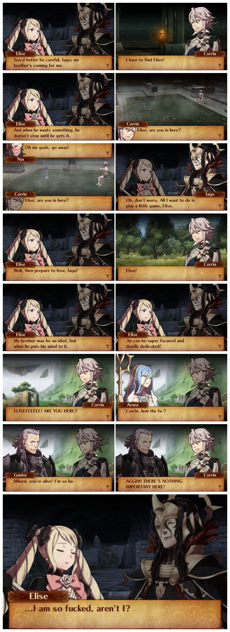 Fates would have been so much better if it had Code MENT's writing (well, the general logic on Conquest and Revelations would have fit at least XD )